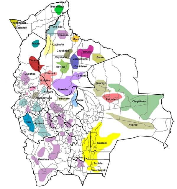 Bolivia Mapa De Los Pueblos Indigenas