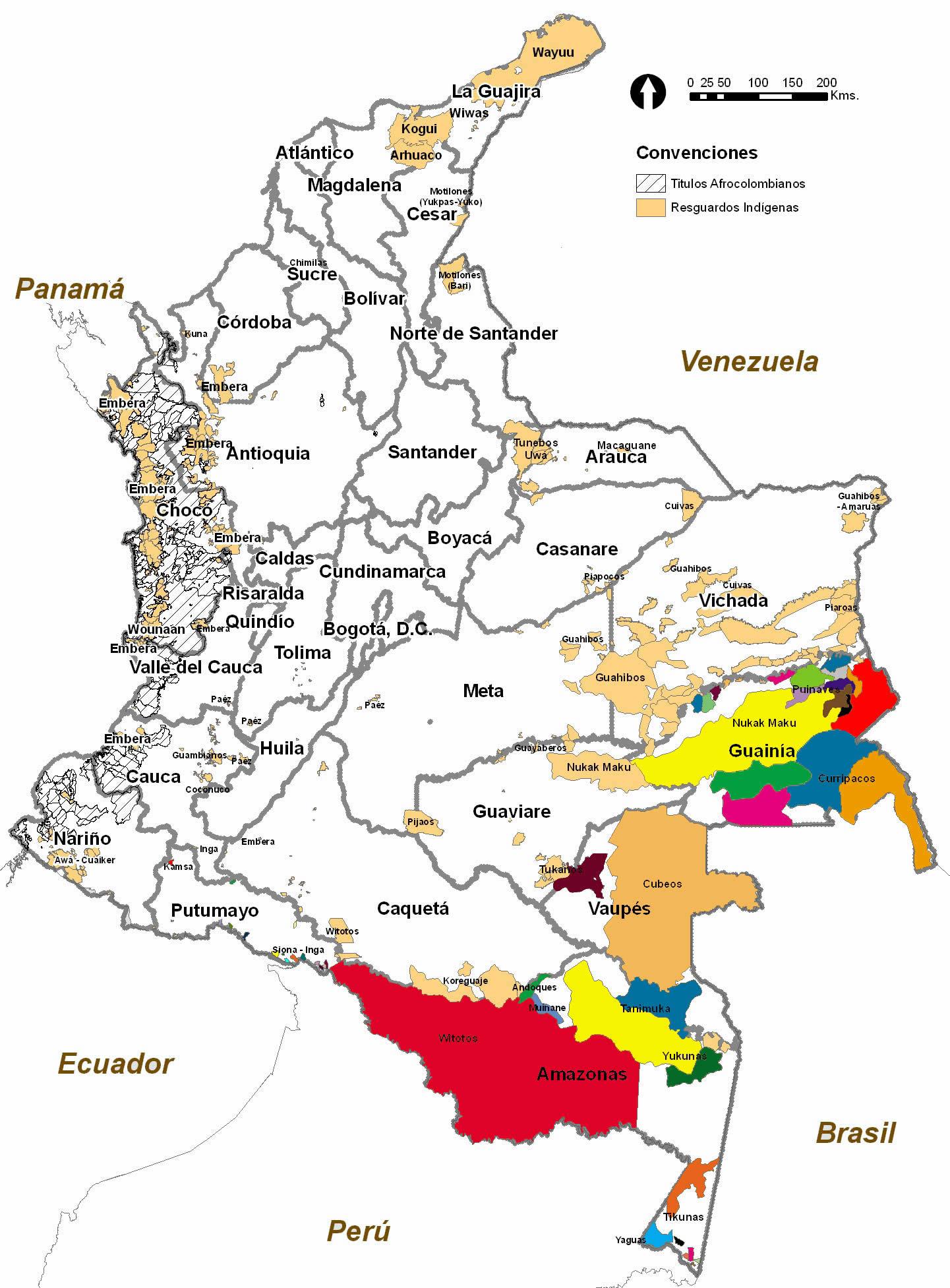 Colombia Resguardos Indgenas de la Amazona